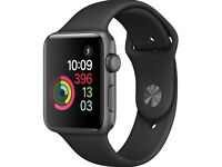 perfect condition apple watch 2 (38mm) for sale - full black - £250 - 1 year apple warranty
