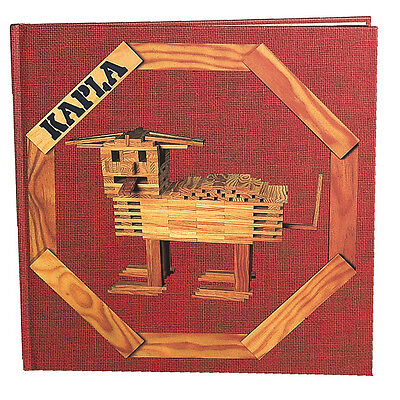 """KAPLA Kunstbuch Nr. 1 rot """"Tiere und verschiedene Konstruktionen"""" (6+)"""