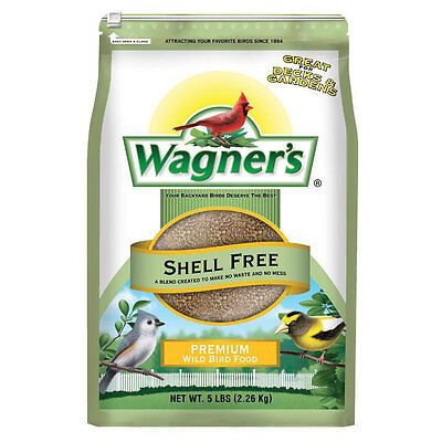 5 lb. Shell Free Premium No Mess No Waste Garden Wild Bird Seed Mix Food Blend