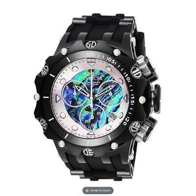 Invicta Venom 26591 Oyster/ Silver Dial Chronograph Black Silicone Watch