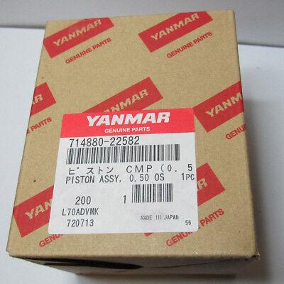 Yanmar Piston W Rings 71488022582 .050 Oversized L70ae 3kw Generator Dsl M024