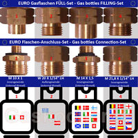 Euro Cylinders+filling Set Gas Cylinders-connector Adapter-clip Transition - markenlos - ebay.co.uk