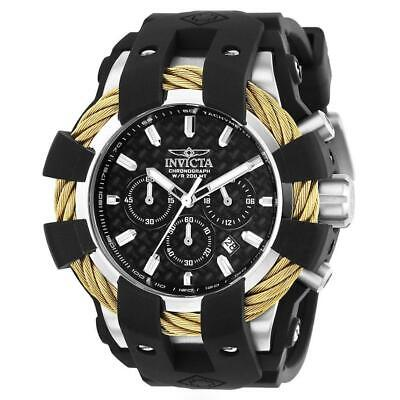 Invicta Bolt 23858 Men's Round Analog Chronograph Date Black Silicone Watch