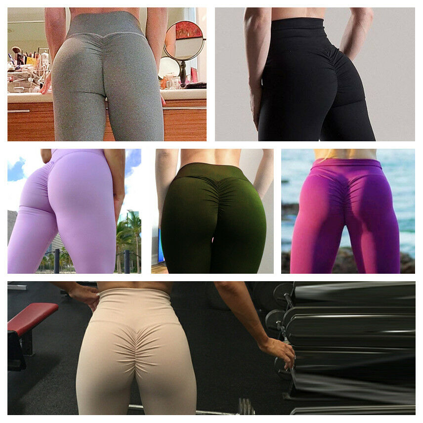 Yoga Gym Fitness Trousers Jogging Women Pants PUSH UP High Waist Sports Leggings