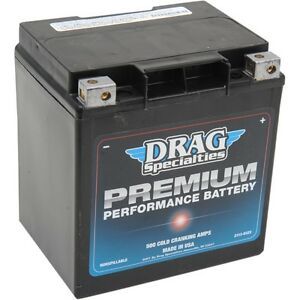 Harley-Davidson Touring Maintenance-Free Premium Performance Battery 500 CCA