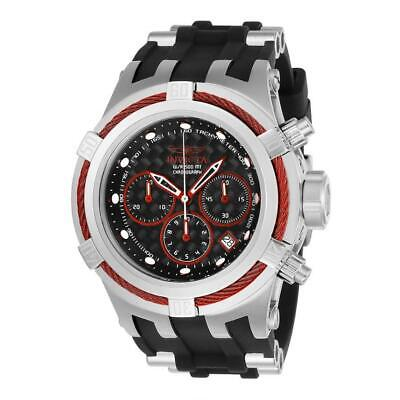 Invicta Bolt Zeus 22443 Men's Black Silicone Red Cable Bezel Chronograph Watch
