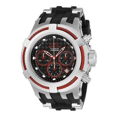 Invicta Bolt Zeus 22443 Men's Black Silicone Red Cable Bezel Chronograph Watch