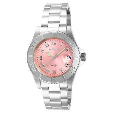 Invicta Angel 14360 Women's Round Analog Stainless Steel Pink Dial Watch