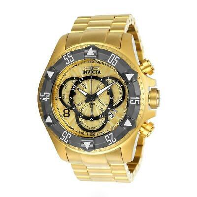Invicta Excursion 24266 Men's Round Chronograph Day Date Gold Dial Analog Watch