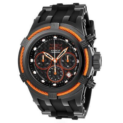 Invicta Zeus Bolt 22450 Mens Black Silicone Orange Cable Chronograph Watch