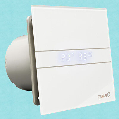 Cata E100GTH White Vent Extraction Fan 100mm With Humidistat Timer