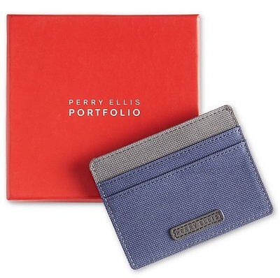 Perry Ellis Portfolio Gift Box Men's Fabric Card Case