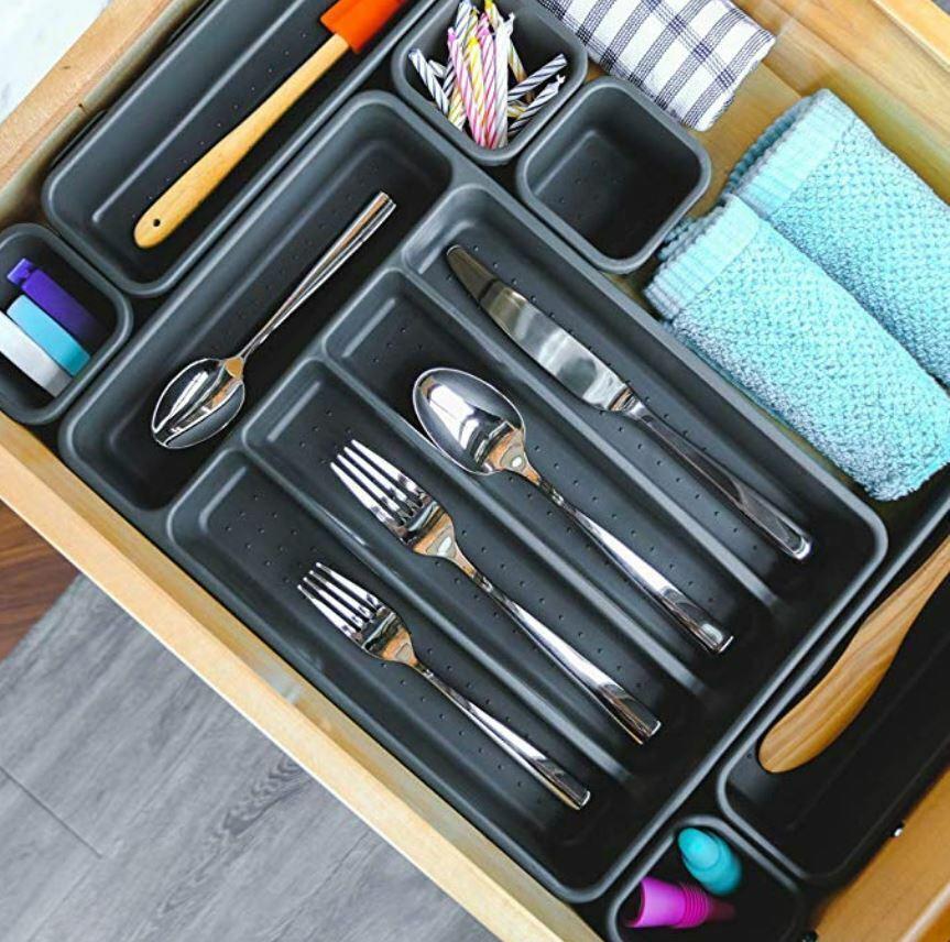 Made Smart Small Cutlery Tray, Black, 1 Tray