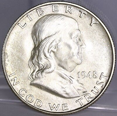 1948-1963 FRANKLIN HALF DOLLARS UNCIRCULATED LOT OF 11 COINS