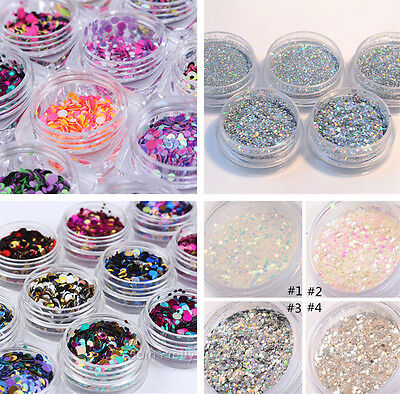 Nail Art Glitter Powder Dust UV Gel Acrylic Powder Sequins Christmas Manicure - Christmas Glitter