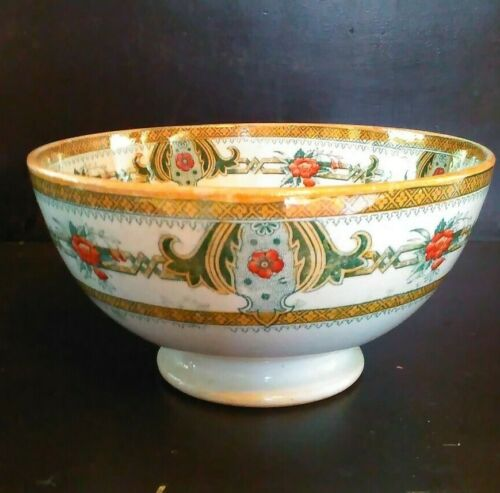 Antique Petrus Regout Maastright & Co Belus 8 IInch Bowl Made in Holland Dutch