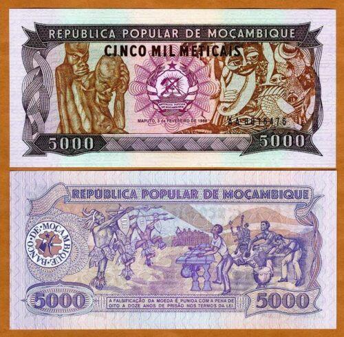 Mozambique, 5000 meticais, 1988, P-133a AA-Prefix UNC > Weird Imagery