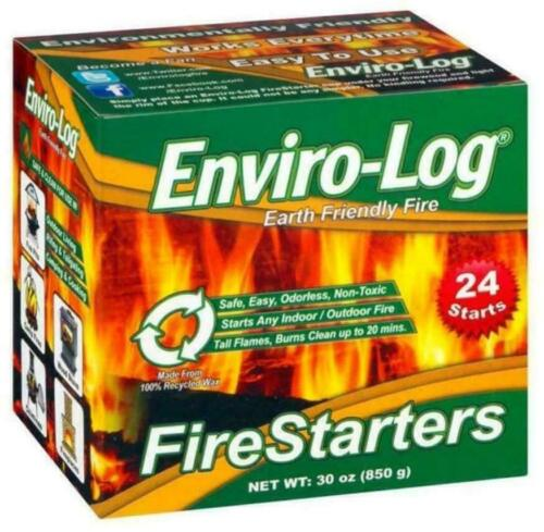 Easy to use Fire starter Enviro-Log 2.5-lb Wax Burns cleanly  (24-Pack) New