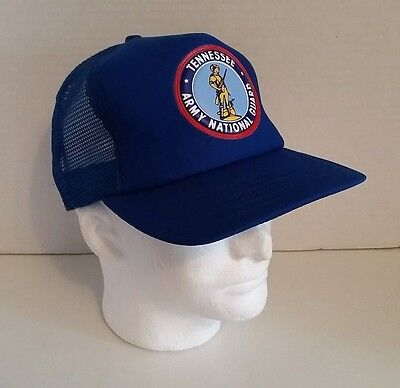Vintage Tennessee Army National Guard Baseball Hat Trucker Snapback Cap Military National Guard Hat