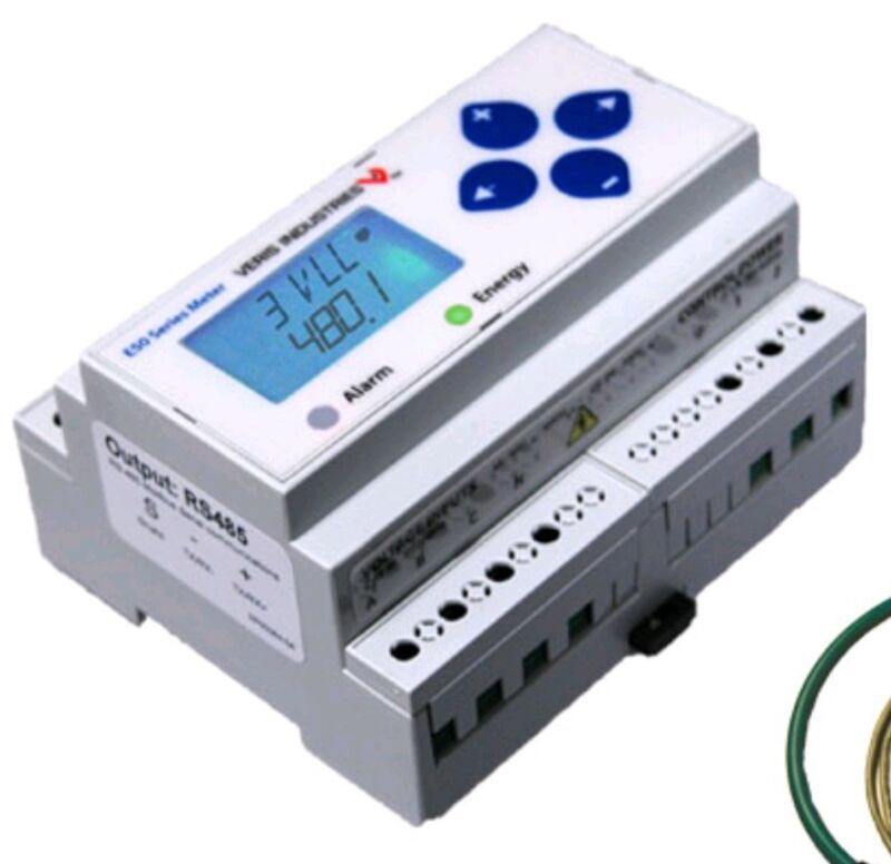 NEW Veris Industries E50H5A BACNet MS/TP Power Meter 3-Phase with DIN Rail