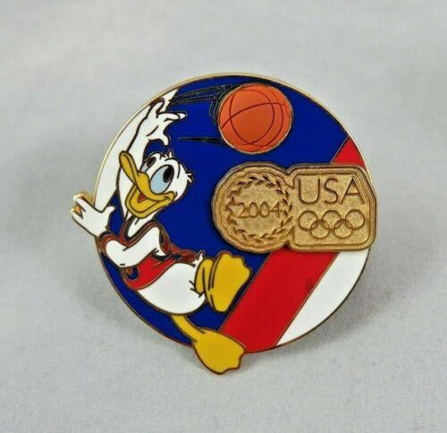 Disney Disneyland Pin - USA Olympic Logo 2004 - Basketball - Donald Duck
