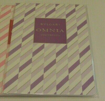 BVLGARI Omnia AMETHYSTE Perfume Scented Notebook Journal Sketchbook GIFT -