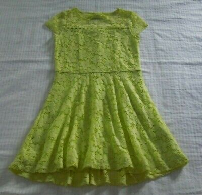 Girls Abercrombie Kids Neon Yellow Dress Size 7/8