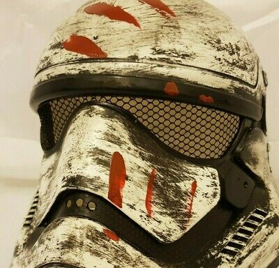 FORCE AWAKENS FINN STAR WARS STORMTROOPER CUSTOM HELMET PAINTED ADULT SIZE