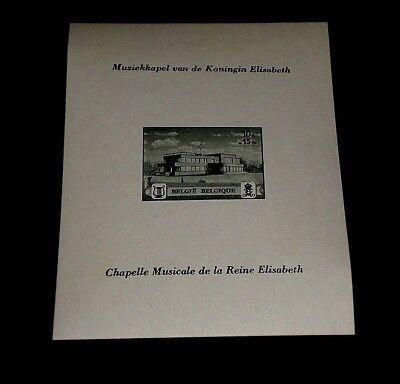 BELGIUM #318, 1941, QUEEN ELIZABETH, MUSIC, IMPERF. SOUVENIR SHEET, MNH, LQQK