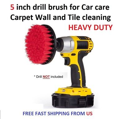5 inch drill brush for Car care Carpet Wall and Tile cleaning HEAVY DUTY