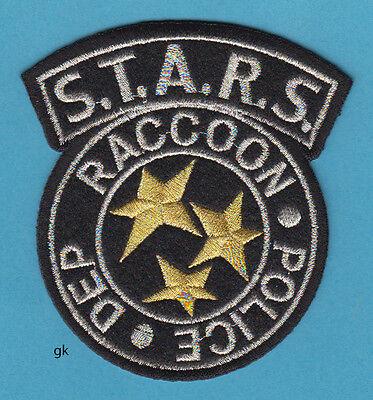 RESIDENT EVIL RACCOON POLICE STARS SHOULDER PATCH ( Black / Silver /Gold)