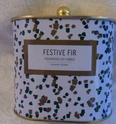 FESTIVE FIR BY Illume FRAGRANCED Soy Wax  Tin Candle - 11.8 oz