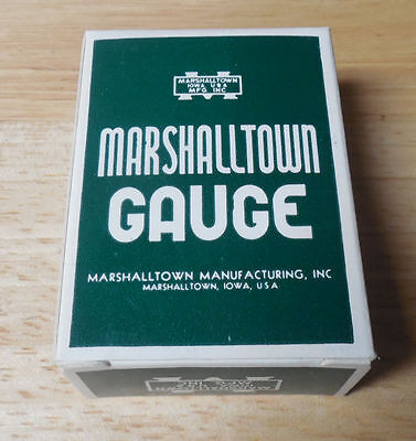New Old Stock Marshalltown Pressure Gauge 2 Dial 10-30 Psi 1.25 Connector