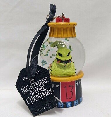 Disney Parks Nightmare Before Christmas Oogie Boogie Snowglobe Ornament New
