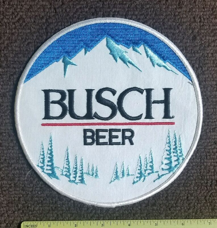Vintage - New Old Stock - LARGE BUSCH BEER Pale Lager Collectors Patch