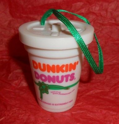 """Dunkin Donuts Collectible II """"Discover Great Coffee"""" Cup Christmas Ornament"""