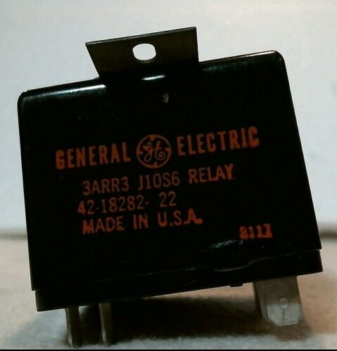 General Electric Start Relay, HVAC, 42-18282-22, 3ARR3, J10S6, USA MADE, NEW