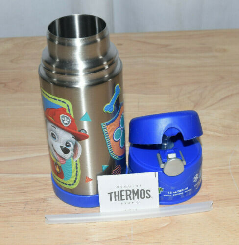 Thermos Vacuum Insulated Stainless Steel 12 Ounce Funtainer w Straw - Paw Patrol