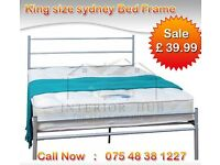 Metal bed frame king size brand new