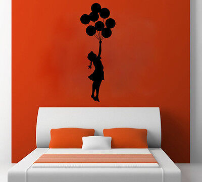 Banksy - Balloon Girl Free Squeegee! Wall Vinyl Decal Sticker / Art Mural Large