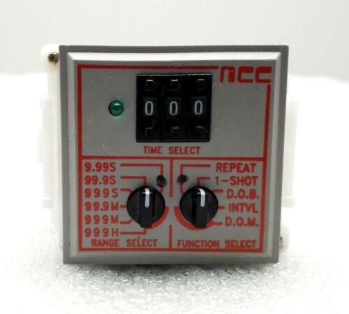 AMETEK NCC TMM-9999M-96M TIME DELAY RELAY .05-SEC-999 24-240VAC/DC