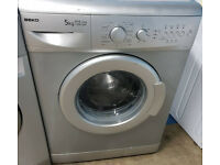 m462 silver beko 5kg 1200spin washing machine comes with warranty can be delivered or collected