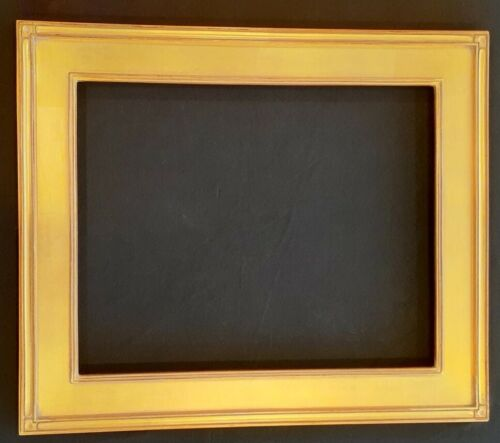 "16""  x 20"" - Carved Wood Picture Frame in Gold Metal Leaf"