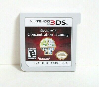 Brain Age Concentration Training (Nintendo 3DS) Good Educational Memory Game