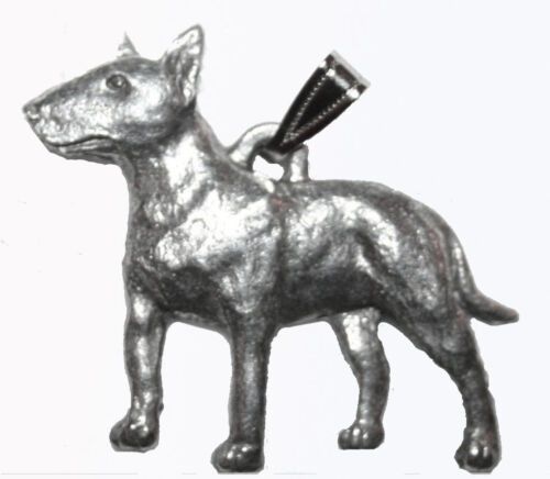 Bull Terrier Pendant Dog Harris Fine Pewter Made in USA jewelry for necklace