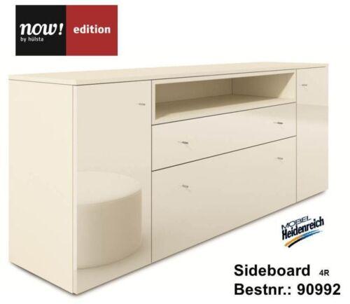 hulsta now edition sideboard 4r ohne kufen 90992 hochglanz lack weiss neu