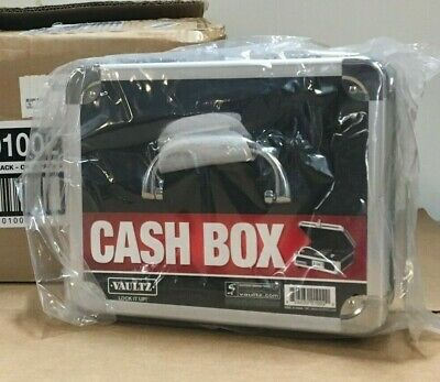 Brand New Vaultz Vz01002 Black Locking Cash Box Tumbler Lock