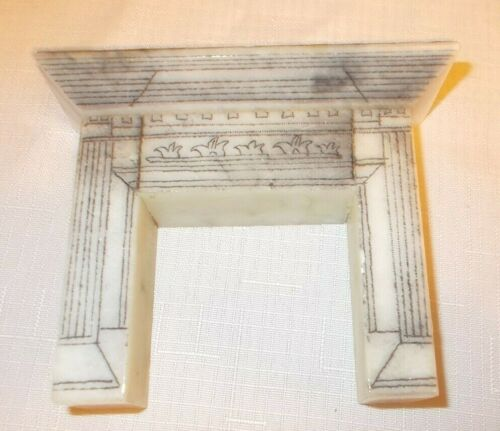 "Must see: Vintage ""Etched Marble"" Dollhouse Fireplace"