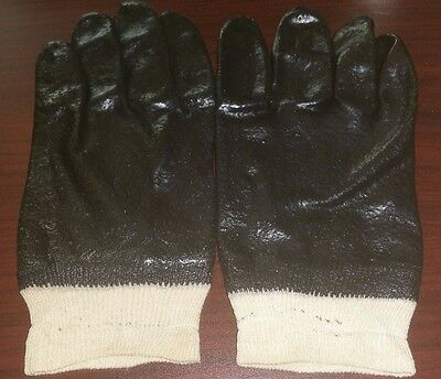 Pvc Coated Chemical Gloves With Knit Wrist