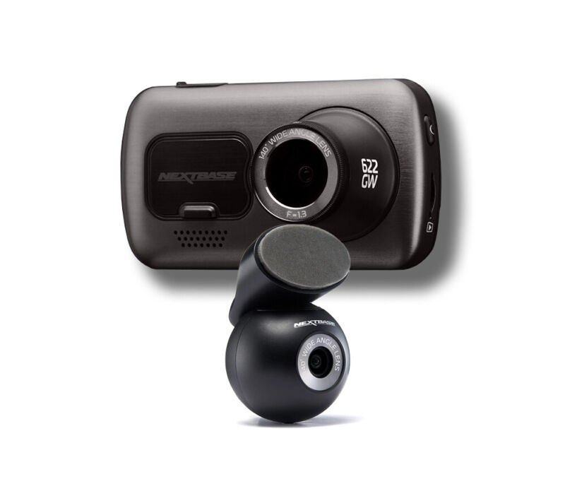 NEXTBASE 622GW Front and Rear Dash Cam with Accessory Pack - 4k - Wifi - Alexa